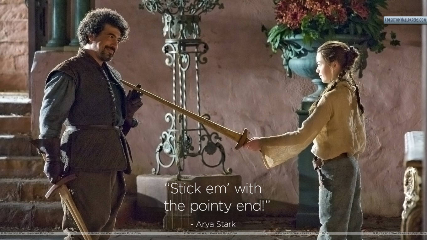 syriol e arya The Pointy End