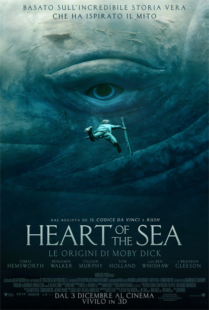 Heart of the Sea ron howard chris hemsworthimmagini poster foto