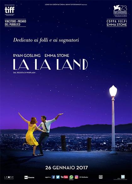 la la land poster locandina chazelle emma stone ryan gosling