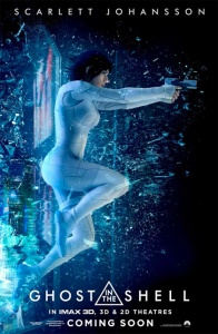 ghost in the shell locandina poster scarlett johansson