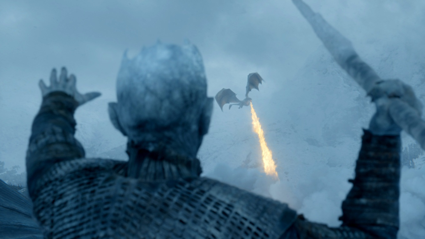 Night_King Viserion Beyond the Wall