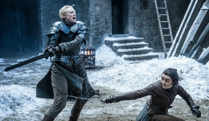 Brienne Arya the spoils of war GoT
