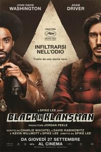 Blackkklansman locandina manifesto italiano